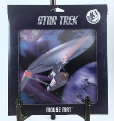 Star Trek 3D Mouse Pad, Vintage Collectible, Motion Mouse Mat, Numbered, Mint in Original Package, Enterprise in Deep Space