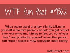 How to calm yourself down - WTF fun facts WTF Facts : funny, interesting & weird facts Psychology Fun Facts, Psychology Says, Psychology Quotes, Psychology Experiments, Abnormal Psychology, Color Psychology, Wow Facts, True Facts, Funny Facts