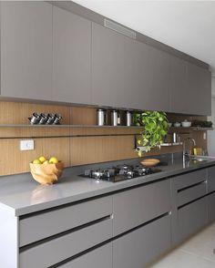47 best simple kitchen design ideas for 2020 46 Simple Kitchen Design, Luxury Kitchen Design, Kitchen Room Design, Kitchen Layout, Home Decor Kitchen, Interior Design Kitchen, Modern Kitchen Interiors, Modern Kitchen Cabinets, Kitchen Cupboard Designs