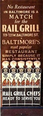 The Rail Grill, Baltimore   #frontstriker #feature #matchbook   To design &…