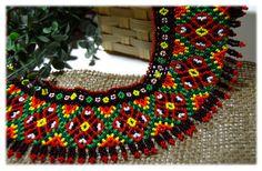 Traditional Ukrainian Beaded NECKLACE Gerdan Bead Necklace Jewelry Folk