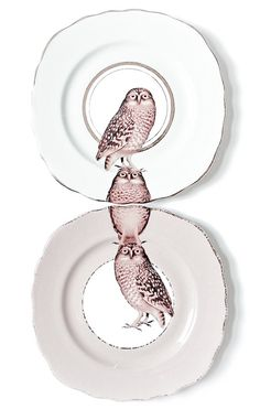 Never been a huge fan of hanging decorative plates...but these I like