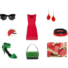 """Watermelon style"" by balsamoirene on Polyvore"