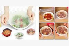 This amazing stretchable tool allows you to store your food nicely. It keeps your food fresh and juicy and it is easy to us! No more food waste! Food Huggers, Clever Inventions, Leftovers Recipes, Food Tasting, Plates And Bowls, Food Waste, Diet Plans To Lose Weight, Fruits And Vegetables, Feel Better