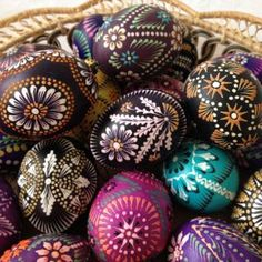 Traditional Lithuanian Easter eggs: