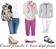 Casual outfit formula 7: knee-high pants   40plusstyle.com #40PlusCasualStyleChallenge