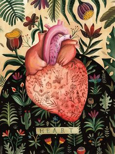 Illustration - illustration - Beautiful Us - aitch. illustration : – Picture : – Description Beautiful Us – aitch -Read More – Arte Indie, Indie Art, Art And Illustration, Medical Illustration, Art Illustrations, Heart Anatomy, Anatomy Art, Human Anatomy, Colors
