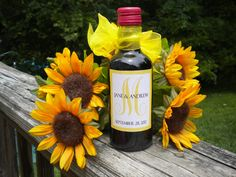Mini Wine Bottle Labels - Printable DIY Mini Wine Labels - Wedding Favors. $15.00 USD, via Etsy.