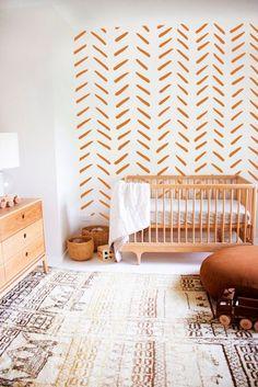 Stripes Decal -  Strip Wall Decal, Hand Drawn Stripes Decal, Boho Nursery, Boho Wall Decals, Kids Wa
