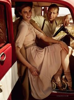 Love Letters, Tea Dresses, and the 1940s ♦ Kendra Spears by Will Davidson for Harper's Bazaar Australia