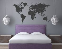 There are millions of reasons to travel the world. We want to help you remember the great times, beautiful places, incredible architecture & amazing people. It's a big World out there… Explore. This listing is for a World Map with Countries Borders & North America Borders Wall Decal. Easy