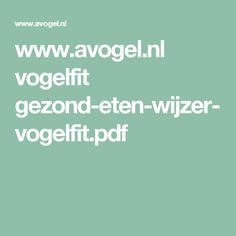www.avogel.nl vogelfit gezond-eten-wijzer-vogelfit.pdf