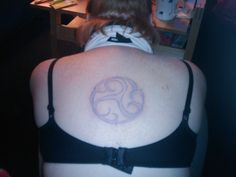 Penned down on my back by my sister, but I really would like to have this there and that on my back, for life!