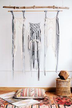 Grey Wool Wall Hanging
