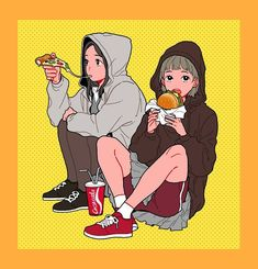 Find images and videos about girls, food and illustration on We Heart It - the app to get lost in what you love. Character Art, Character Concept, Concept Art, Pretty Art, Cute Art, Anime Art Girl, Manga Art, Character Illustration, Illustration Art