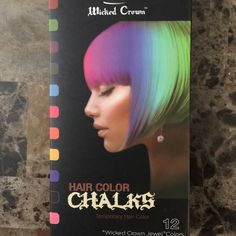Wicked Crown Hair Chalk! Set of 12 Colors Never used!! Brand new!!! Wicked Crown Accessories Hair Accessories