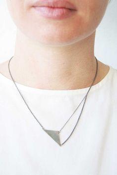 B1-COM necklace black silver by Naoko Ogawa
