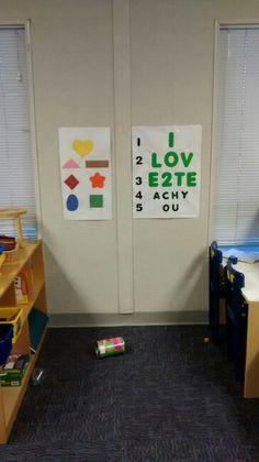 Eye chart, doctors office, community, preschool, headstart