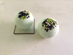 Two Eucalyptus Bath Bombs-All Natural-Handmade by HollysAbstractArt on Etsy