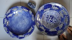 Ceramic Bowls, Earthenware, Luster, Serving Bowls, Indigo, Mosaic, Decorative Plates, Ceramics, Inspired