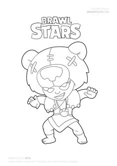 Nita from Brawl Stars Star Coloring Pages, Free Coloring, Stars Wallpaper, Werewolf, Easy Drawings, Drawing S, Sailor Moon, Pokemon, Fan Art