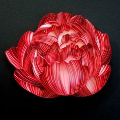 Paper peony (4 of 4) made for Estée Lauder's Lunar New Year #BloomWithJoy campaign Paper Art, Paper Crafts, Paper Peonies, Lunar New, Estee Lauder, Peony, Quilling, Art Drawings, Campaign