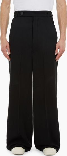 Rick Owens Black Wide-Leg Astaire Trousers The Rick Owens Wide-Leg Astaire Trousers for AW16, seen here in black. - - These wide-leg trousers from Rick Owens are crafted in Italy from lightweight wool and cut to offer a relaxed fit. - - - -Pre http://www.comparestoreprices.co.uk/january-2017-6/rick-owens-black-wide-leg-astaire-trousers.asp