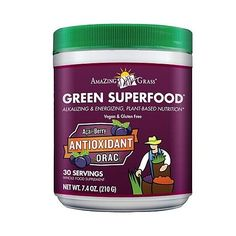 Amazing Grass (Green) Super Food Antioxidant & Greens, 7.4 oz