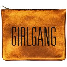 Sarah Baily - Mini Clutch Orange Girlgang ($220) ❤ liked on Polyvore featuring bags, handbags, clutches, party purse, handbags purses, hand bags, mini handbags and man bag