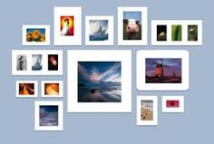 wand met fotolijsten - Google zoeken