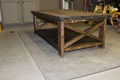 Rustic X Table   con