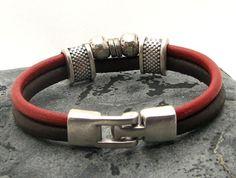 LIVRAISON EXPRESS hommes Bracelet.Brown bracelet en par eliziatelye