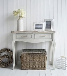 Bridgeport Grey Console Table For Country Cottage Living Rooms And Hallways