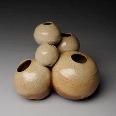 MARK SHAPIRO Five Dancing Forms , 2013 8 x 8 x 7 in. stoneware, salt glazed, wood-fired