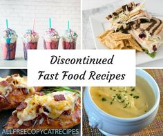 17 Discontinued Fast Food Items (And Their Recipes) Olive Garden Chicken Parmigiana, Chilis Menu, Fast Food Items, Wing Recipes, Cat Recipes, Copykat Recipes, Restaurant Recipes, Seafood Recipes, Copycat