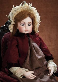 At Play in a Field of Dolls (Part 1 of 2-Vol set): 236 French Bisque Bebe,Circle Dot Model,By Leon Casimir Bru,in Fine Early Costume