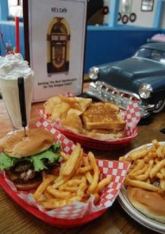 60s Diner, Lincoln City, Oregon.  Located in the Lighthouse shopping area.  Good burgers, fun music.