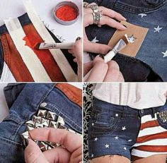 DIY American flag shorts!