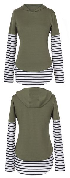 $25.99 Only with free shipping&easy return! This striped splicing hoodie will be your fave for casual look. Keep cozy&chic at Cupshe.com