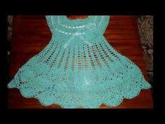 vestido para niña tejido a crochet - YouTube