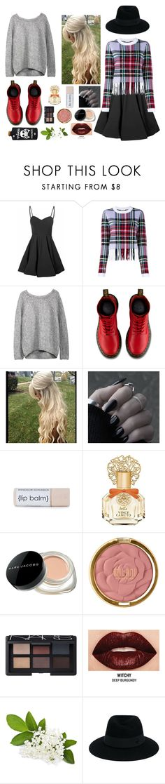 """""""Untitled #123"""" by beautifully-different21 ❤ liked on Polyvore featuring moda, Glamorous, Chloé, Dr. Martens, Vince Camuto, Marc Jacobs, Milani, NARS Cosmetics, Smashbox y Maison Michel"""