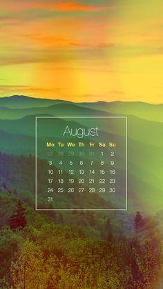 ↑↑TAP AND GET THE FREE APP! Lockscreens Art Creative Calendars August Summer Days Months Years HD iPhone 6 Lock Screen