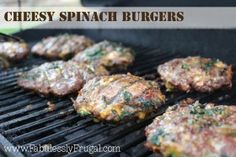 Fabuless Freezer Cooking: Cheesy Spinach Burgers