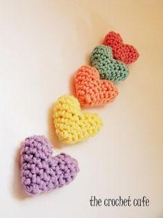 Crochet Mini Heart Pattern via Craftsy