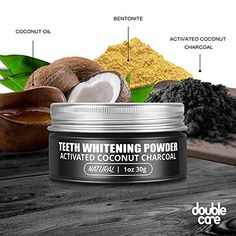 Amazon.com : DoubleCare Activated Charcoal Teeth Whitening Powder-Coconut Charcoal Tooth Whitener-Natural Teeth Whitening-Enamel Safe & Improve Gum Health-Organic(3-month supply) : Beauty #doublecare Activated Charcoal Teeth Whitening, Natural Teeth Whitening, Gum Health, Teeth Health, Bentonite, Teeth Care, White Teeth, Tooth, Powder