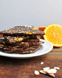 Chocolate Avocado Bark Recipe with Orange Zest and Almonds | Healthy Ideas for Kids