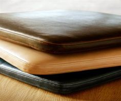 box cushion leather - Google Search                                                                                                                                                                                 More