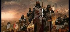 Templars pray before battle – The Templar Knight Illuminati, Saint Lazarus, Kingdom Of Jerusalem, Christian Warrior, Warrior King, Sign Of The Cross, Medieval Knight, Freemasonry, Chivalry