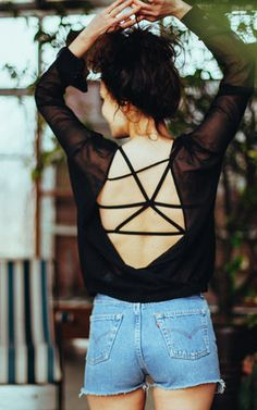 This bralette looks best coupled with an open-back top or loose summer dress