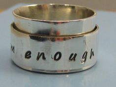 I am enough spinner ring personalized by LindaBoBindasDesigns